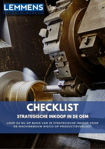Checklist - Strategische inkoop in de OEM